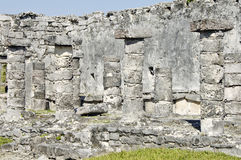 Ancient buildings built by the Mayas Stock Images