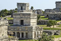 Ancient buildings built by the Mayas Stock Image