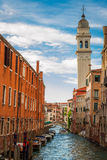Ancient buildings on a canal in Venice Stock Image