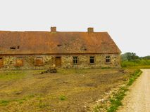 The ancient buildings of the early twentieth century that have survived to this day. Old stone houses.  stock images