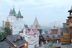 Ancient buildings in entertainment center Kremlin Royalty Free Stock Images