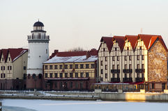 Ancient buildings in Kaliningrad Stock Image