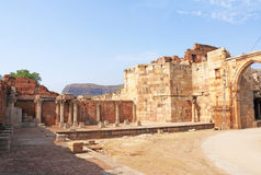Ancient buildings at Pavagadh; Archaeological Park  World Herita Royalty Free Stock Images