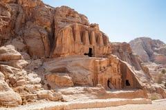 Ancient buildings of Petra Stock Photos