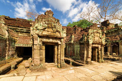 Ancient buildings of Preah Khan temple in Angkor, Cambodia Royalty Free Stock Photo