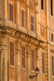 Ancient buildings in rome, italy. Ancient buildings with streetlight in rome Royalty Free Stock Photos