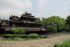 The ancient buildings in Shanghai Water Park Royalty Free Stock Photo