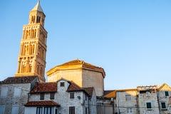 Ancient buildings in Split city centre. Croatia Stock Images