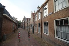 Ancient buildings on the streets of city Haastrecht in the Netherlands in the Krimpenerwaard area. Ancient buildings on the streets of city Haastrecht in the stock images