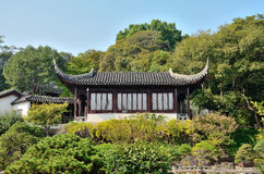 The ancient buildings surrounded by trees. Ancient building in Suzhou gardens Stock Images