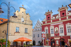 Ancient buildings in Tábor Royalty Free Stock Photography