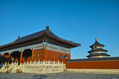Ancient buildings in Temple of Heaven Royalty Free Stock Photography