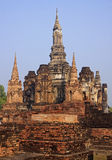 Ancient buildings temple in Sukhothai Royalty Free Stock Image
