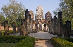 Ancient buildings temple in Sukhothai Stock Photography