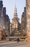 Ancient buildings temple in Sukhothai Royalty Free Stock Photos