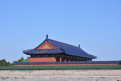 Ancient buildings in Tiantan. Tiantan of the ancient buildings, there are many, most of the Ming and Qing architecture, are used by the Emperor Stock Photo