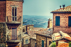 Ancient buildings in Tuscany Royalty Free Stock Photo