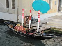 Gondolas and canals in Venice, Italy -- oh my!. Ancient buildings and waterways, with gondolas floating through them is the epitome of Venice,Italy. Here are Royalty Free Stock Images