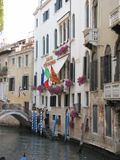 Gondolas and canals in Venice, Italy -- oh my!. Ancient buildings and waterways, with gondolas floating through them is the epitome of Venice,Italy. Here are Royalty Free Stock Photos
