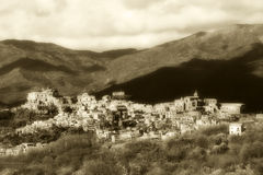 Ancient burg from sicily, vintage style sepia hue Stock Images