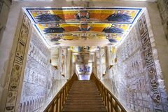 Free Ancient Burial Chambers For Pharaohs With Hieroglyphics At The Valley Of The Kings, Luxor, Egypt. Royalty Free Stock Photography - 185698267