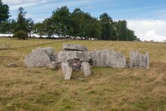 Ancient burial ground in Ekornavallen. Falköping district. Sweden. Europe. Remains of ancient burial grounds, older then famous Stonehenge in England royalty free stock image
