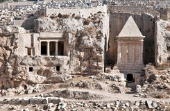 Ancient burial in Jerusalem. Royalty Free Stock Images