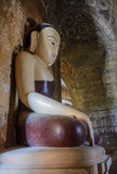 Ancient Burmese buddha statue Stock Photography