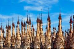 Ancient Burmese Kakku Pagodas near Inle lake, Myanmar Royalty Free Stock Photos