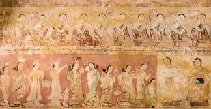 Ancient Burmese mural Stock Image