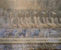Ancient Burmese mural Royalty Free Stock Images