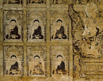 Ancient Burmese mural Stock Images