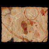 Ancient burned paper & raven. Ancient burned paper with raven - digital illustration stock illustration