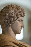 Ancient bust of the man in the baths of Diocletian in Rome. Royalty Free Stock Photography