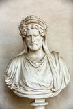 Ancient bust of the man in the baths of Diocletian in Rome. Royalty Free Stock Photo