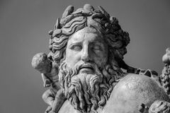 Ancient bust of Nile river god.  Royalty Free Stock Photo