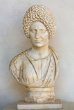 Ancient bust of the woman in the baths of Diocletian in Rome. Italy Royalty Free Stock Photo