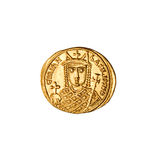 Ancient Byzantine Coin (Obverse) Stock Photos