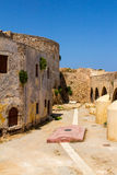 Ancient Byzantine fortress in the city of Chania. Royalty Free Stock Images