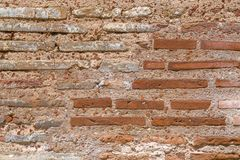 Ancient Byzantium brick wall. Fragment from ancient Greek building stock images