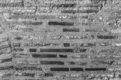 Ancient Byzantium brick wall. Fragment from ancient Greek building stock photography