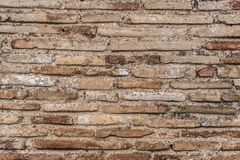 Ancient Byzantium brick wall, fragment from ancient Greek building. Ancient Byzantium brick wall texture, fragment from ancient Greek building royalty free stock photos