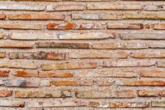 Ancient Byzantium brick wall, fragment from ancient Greek building. Ancient Byzantium brick wall texture, fragment from ancient Greek building stock images