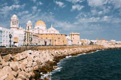 Ancient Cadiz city in southern Spain. Cadiz Royalty Free Stock Image