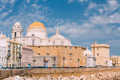 Ancient Cadiz city in southern Spain. Cadiz Royalty Free Stock Photo