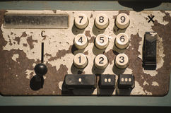 The ancient calculator. Retro,vintage Royalty Free Stock Photo