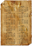 Ancient calendar on 2008 Royalty Free Stock Photography
