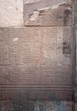Ancient calendar from Kom Ombe, Egypt. Ancient Egyptian calendar on a wall in Kom Ombo Temple on the Nile, Egypt Stock Photography