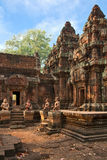 Ancient Cambodian temple Royalty Free Stock Images