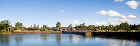 Ancient Cambodian Temple Ruin Grand Palace Concept.  Stock Photography